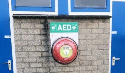 AED direct bij de hand bij Rohda '76