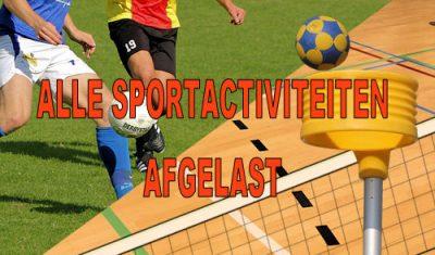 Alle sportwedstrijden en andere sportactiviteiten t/m 6 april afgelast