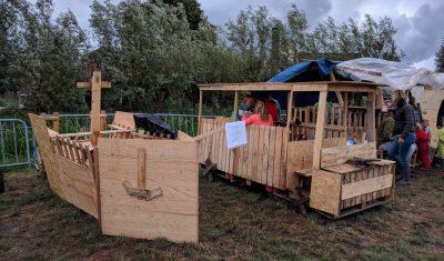 Huttenbouw Nieuwerbrug in eigen tuin