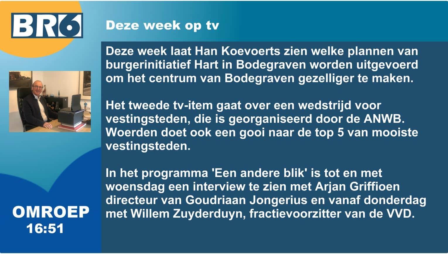 Deze week op tv bij BR6