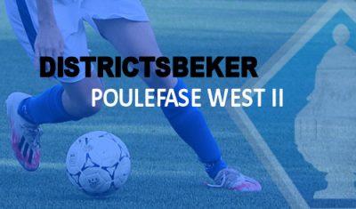 Indeling en wedstrijdprogramma poulefase KNVB-districtsbeker