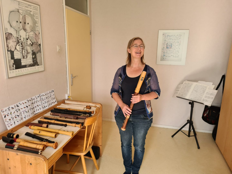 Blokfluitiste Saskia Theunisse Gast uit de Streek bij BR6